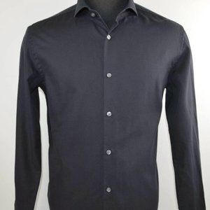 Hugo Boss Casual Button Black Shirt Size 16.5